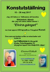 Inbjudan till Konstutställning i nässjö maj 2017